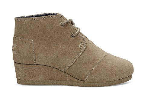TOMS Taupe Suede Youth Desert Wedge 10003598 (Size: 13.5D)