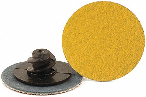 1'' Coated Quick Change Disc, TR Roll-On/Off Type 3, 100, Medium, Ceramic, 100 PK