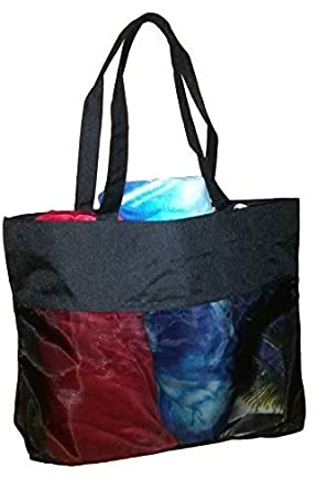 Amazon.com: Extra Large Micro Mesh Nylon Tote Bag - Shopping ...