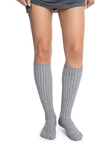 Barefoot Dreams Cozychic Women's Ribbed Socks – Heathered Ash-Dove Grey
