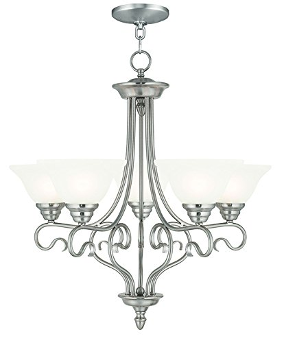 - Livex Lighting 6115-91 Coronado 5 Light Chandelier, Brushed Nickel