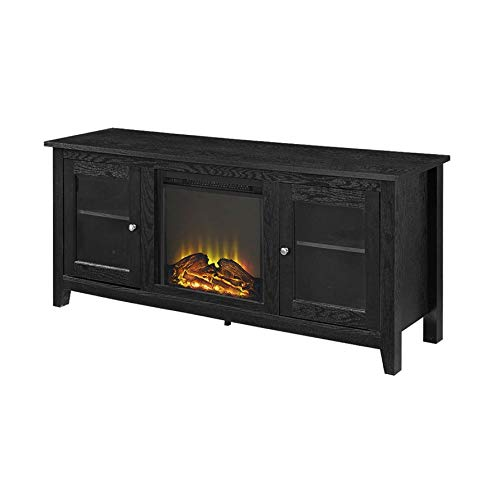 Cheap Electric Fireplaces Black 2-in-1 TV Stand with Electric Fireplace Heater Black Friday & Cyber Monday 2019
