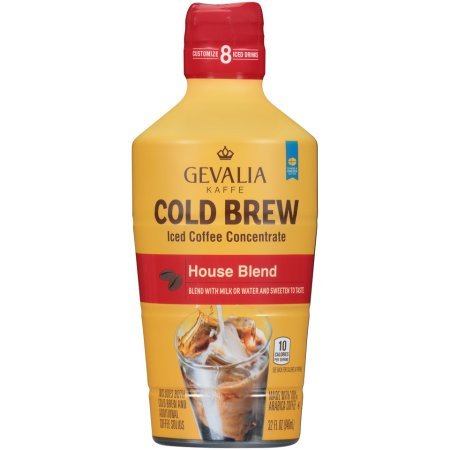 Gevalia Cold Brew House Blend Ice Coffee Concentrate, 32 Fl Oz, Pack of 1