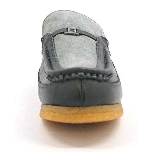 Slip Collection Inglese Old School Slip On Scarpe In Camoscio Grigio