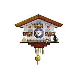 Alexandor Taron Home Decor Engstler Mini Size Battery-operated Clock with Music/Chimes - 5.75 H x 7 W x 3.25 D