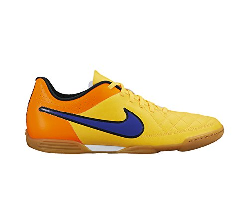 Nike - Nike Tiempo RIO II IC Herren HallenfuÃ?ballschuhe Indoor Orange Leder 631526 - Orange, 41