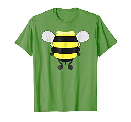 Mens Funny Bee Costume Easy Shirt - Honeybee Halloween Cheap Gift Medium Grass