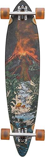 GLOBE Skateboards Pintail 37 Longboard Complete Skateboard, Tropic Lava