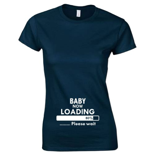Bang Tidy Clothing Women's Baby Now Loading Funny T-Shirt