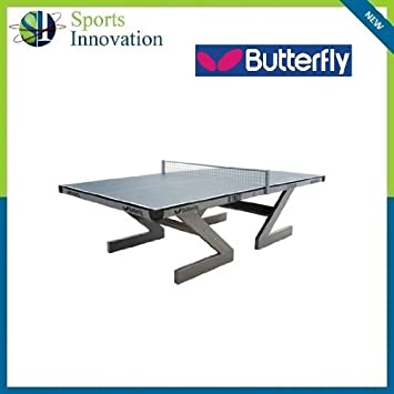 Butterfly OUTDOOR ULTIMATE Table Tennis Table - GREEN with Net Post Set   Amazon.co.uk  Sports   Outdoors 06390823ac12