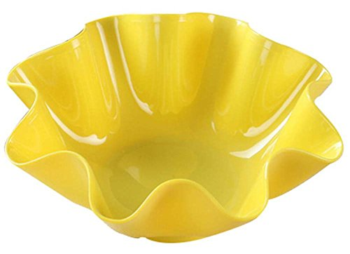 PANDA SUPERSTORE Creative Dish Candy Dish Snack Dish Dried Fruit Plate Modern Living Room Yellow