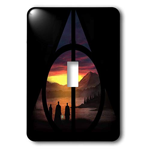 3dRose Tory Anne Collections Art - Harry Potter Deathly Hallows Magical Sunset - Light Switch Covers - single toggle switch - Collection Potter Light 1