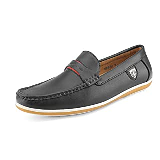 Bruno Marc Men's BUSH-01 Black Driving Loafers Moccasins Shoes - 11 M US