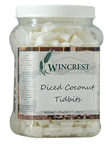 - Diced Coconut Tidbits - 15mm - 2.5 Lb Economy Size Tub