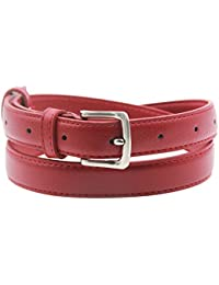 Womens Skinny Leather Belt Solid Color Pin Buckle Simple Waist Belts Mother's Day Gifts