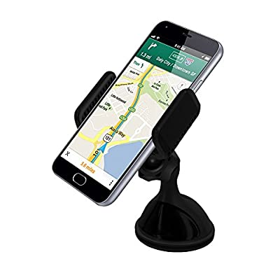 VersionTech Cell Phone Holder for Car Windshield Dashboard Universal Phone Mount Holder, Car Phone cradle for iPhone 7/6s/6s Plus/6 /6 Plus/5s /4s iPhone SE Android and Other Cell Phones GPS devices from VersionTech