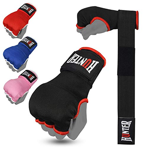 HUNTER Gel Padded Inner Gloves with Hand Wraps for Boxing (Comes in Pair)