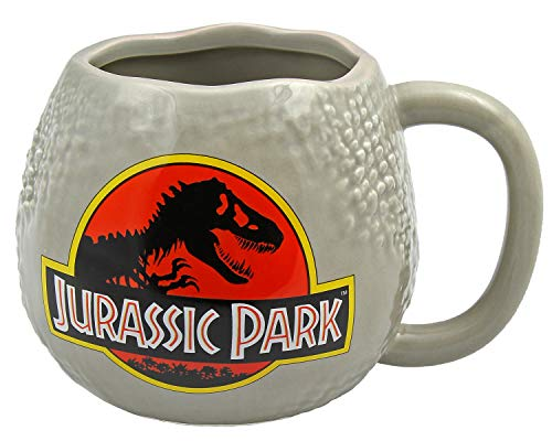 Jurassic Park Mug 25th Anniversary Raptor Egg Molded Ceramic Coffee Cup, 10 oz