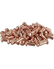 Klinknagel 100 stks 3 * 8mm ronde hoofd solide koperen klinknagels bevestigingen Robuust en gebruiksvriendelijk
