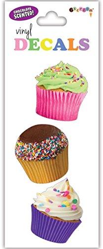 Cupcake Enclosure (iscream 'Cupcakes' Chocolate Scented Mini Vinyl Cling Decal)