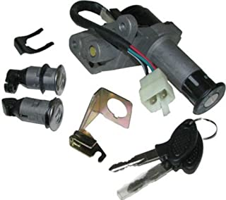 Aquiver Auto Parts New Ignition Key Switch Assembly Set for JONWAY 150QT-12 150CC Scooter Moped