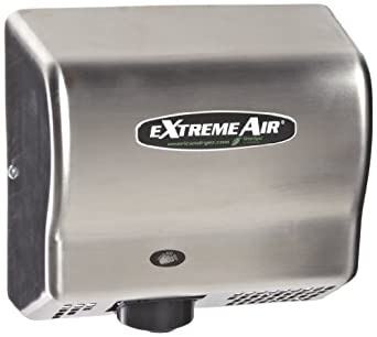 American Dryer ExtremeAir EXT7-SS Stainless Steel Cover High-Speed Automatic Hand Dryer, 12-15 Second Dries, 100-240V, 540W Maximum Power, 50/60Hz
