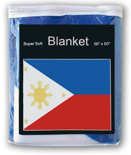 - Super Soft Philippines Flag Fleece BlanketNEW 5 ft. x 4.2 ft. Throw Cover Pambansang Watawat