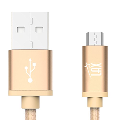 LAX Gadgets Durable Nylon Braided Tangle Free 2.0 Micro USB Android Charging and data Sync Cable  for Samsung, HTC, Motorola, Nokia, Kindle, MP3, Tablet and more[10 - Lax In Stores