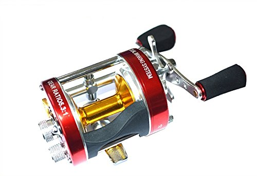 Cheap Mingyang MC500 Baitcasting Reels Fishing Tackle 6 BB Right handed Gear Ratio 5.3:1 Snakehead fishing reel Red Color