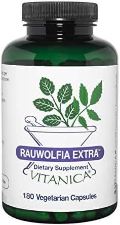Vitanica Rauwolfia Extra, Blood Pressure & Cardiovascular Support Supplement, Vegan, 180 Capsules