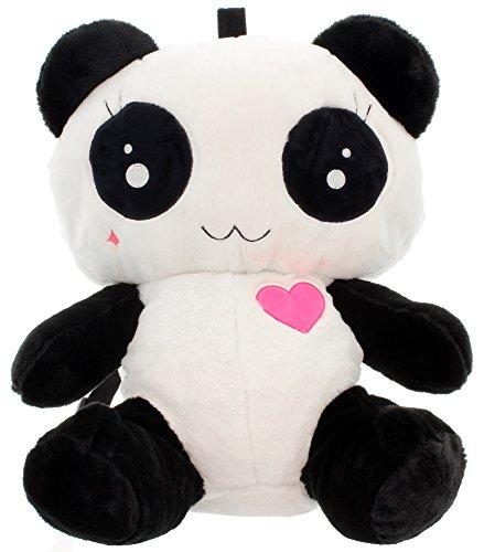 Cupcake Cult delantero Mochila de peluche (Love Panda Bag Blanco