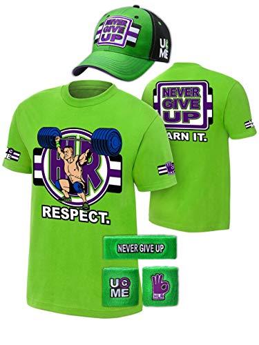 espect Green Mens Costume Hat T-Shirt Wristbands-4XL ()