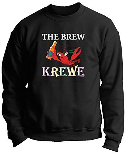 The Mardi Gras Krewe Punny Gifts Crayfish Mardi Gras Outfit The Brew Krewe Mardi Gras Attire Premium Crewneck Sweatshirt 3XL Black]()