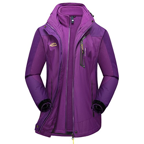 [Timeiya Women's Thicken Warm Jackets for Mountaineering Twinset Winter] (Best Figure Skating Costumes)