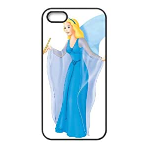 iPhone 5 5s Cell Phone Case Black Pinocchio Character Blue Fairy I1I3H