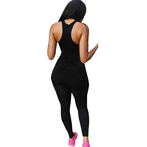 - LISTHA Sleeveless Bodysuit Women Sports Yoga Leggings Bodycon Romper Jumpsuit