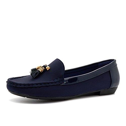 London Footwear - Sandalias con cuña mujer Azul