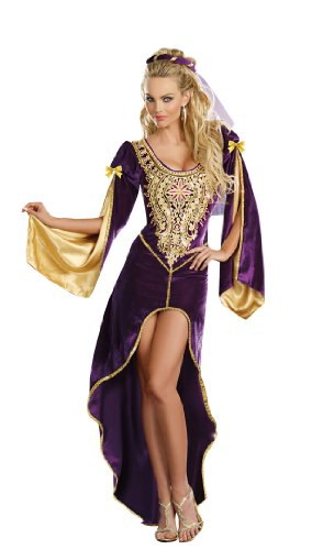 [Dreamgirl Queen Of Thrones, Purple, Extra Large] (Halloween Costumes Renaissance)