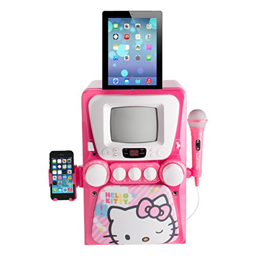 Hello Kitty 68109 CD Karaoke System with Screen, - Kids Karaoke Machine Screen With