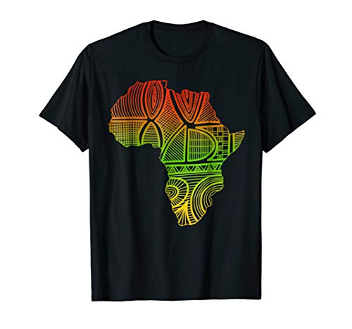 Africa Map T-Shirt -African pride traditional ethnic Pattern by African Art Tshirt