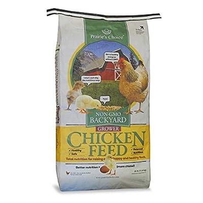 Prairie's Choice Non-GMO Backyard Chicken Feed - Grower Formula, 25lbs