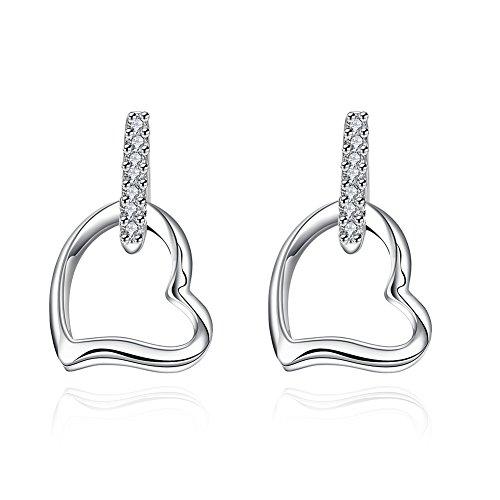Kaariag Punkin¨ Love Heart Shape Dangle Earrings