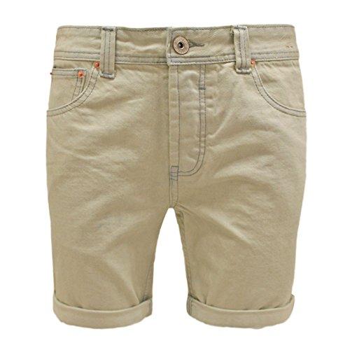 Bellfield Men's Designer Bleach Wash Short Denim Roll Up Summer Jeans Pants Shorts 30