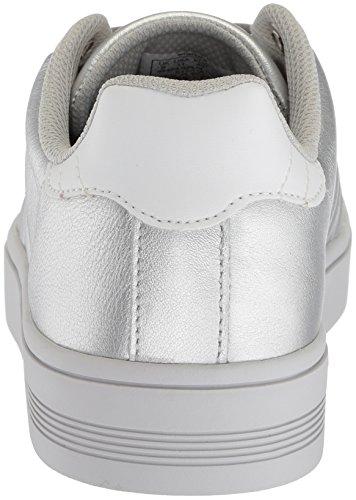 K Barely Blue Frasco Swiss Court White Sneaker Women's Silver arSZawqA