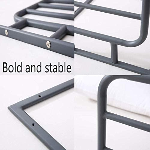 Guardrail ベッドサイド手すり落下防止高齢大人子供ガードRailsの病院ベッドサイドグラブバーホームベッド用のレールをベッドハンドルアシスト XU FENG (Color : Gray)