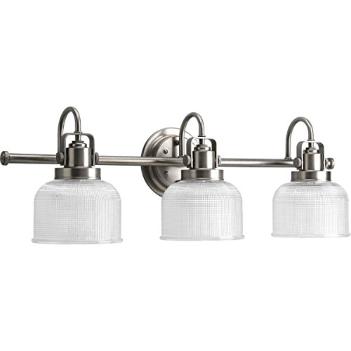 Progress Lighting P2992-81 Archie Collection Three-Light Bath & Vanity, Antique Nickel ()