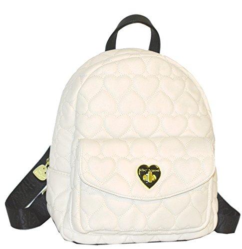 Betsey Johnson Be Mine Turnlock Med Backpack Purse Shoulder Bag Handbag