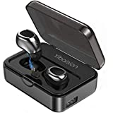 True Wireless Earbuds, Bluetooth Headphones Sweatproof Sports Earphones in-Ear HiFi 3D Stereo Sound Headsets with 50H Playtime Built-in Mic Bluetooth Earbuds with 2200 mAh Portable Charging Case