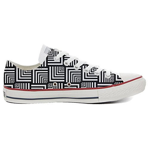 Converse All Star CUSTOMIZED , Sneaker Unisex, printed Italian style Slim Geometric