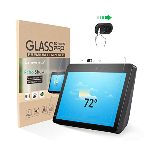 LANMU Show 2nd Generation Screen Protector Webcam Cover,Tempered Glass Screen Protectors with Camera Covers,Protect Your Privacy (Pack of 2) (Best Web Cam Show)